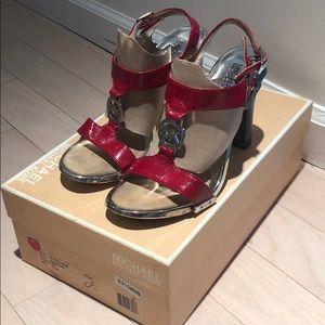 Michael Kors Fulton Red Patent Sandal